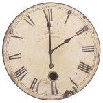 STN004 cream distressed clock