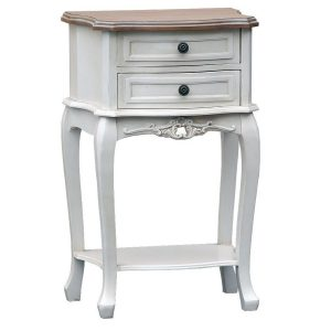 tfg001-aw French Farmhouse Natural White Bedside Table