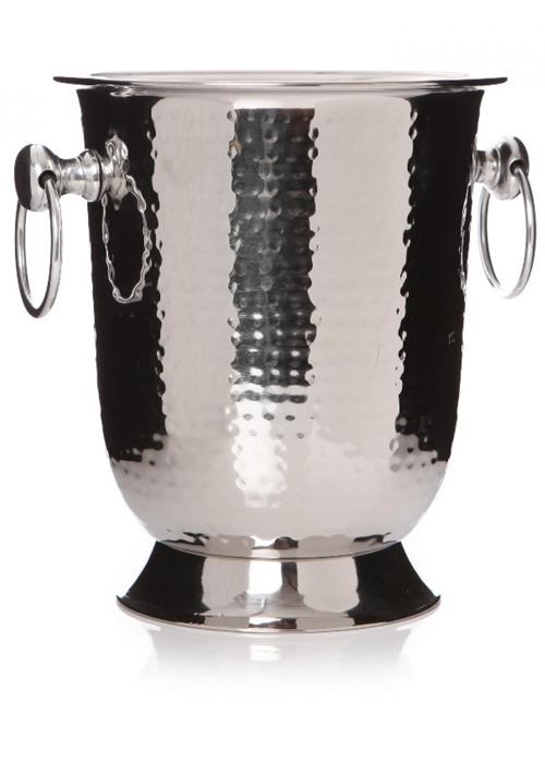 26424_decorative Hammered Metal Stainless Steel Freestanding Wine Cooler Bucket …
