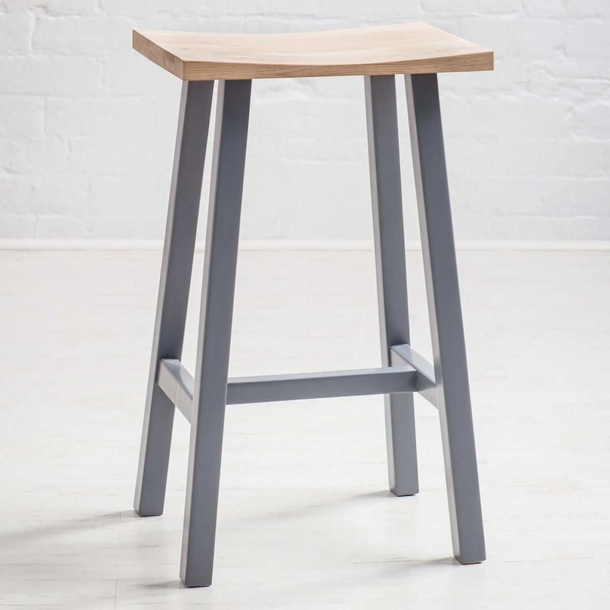 Picture of: Contemporary Grey Oak Breakfast Bar Stool Fizzy Fox Ripley