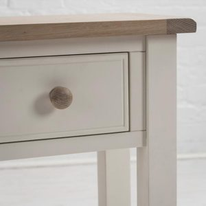 Sturdy-White-Wooden-Handle-Living-Room-Hallway-2-Drawer-Oak-Pine-Console-Table-b