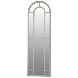 STN1138-Elegant-Antique-Style-Arch-Top-Slim-Grey-Frame-Tall-Window-Mirror