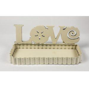 QEL024_1_LOVE Flower Cream Metal Wall Shelf