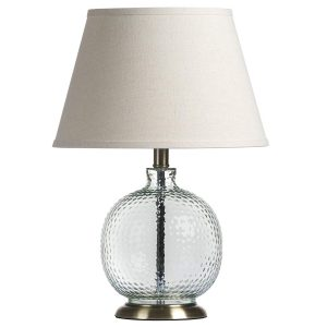 18825 Contemporary Glass Metal Table Lamp