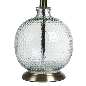 18825-a Contemporary Glass Metal Table Lamp