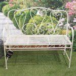4416-Antique-Cream-Metal-Garden-Bench