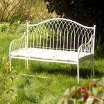 4449-a-Gothic-Style-Cream-Metal-Garden-Bench