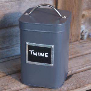 Slate Grey Blackboard Tin with Chalk
