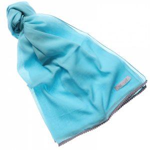 48118-2 Soft Grey Blue Fabric Scarf