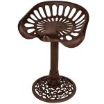 Tractor Seat Brown Cast Iron Stool