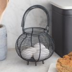 BACN01_Country Style Steel Grey Wire Egg Basket