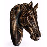 BD35 Antique Bronze Black Horse Wall Decoration