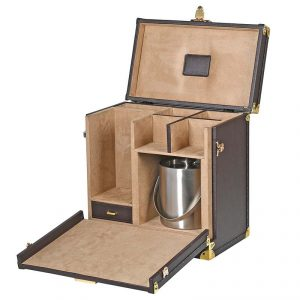 zjh009_2_Antique Brown Drinks Case with Ice Bucket