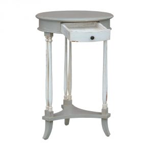 js1026-gyaw-det1 Shabby Chic Vintage Grey Side Table