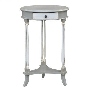 js1026-gyaw_1 Shabby Chic Vintage Grey Side Table