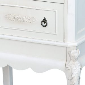 tfc9904-aw-det1_1 Antique White Tall Bedside End Table