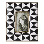 EGN184 Black White Geometric Photo Frame