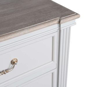18876-a Classic White Grey Chest 6 Drawers
