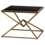 19710 Contemporary Style Antique Bronze Side Table