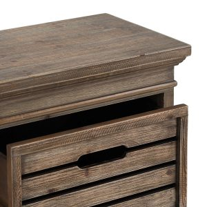 19818-a Crate Style Wooden Chest of 2 Drawers