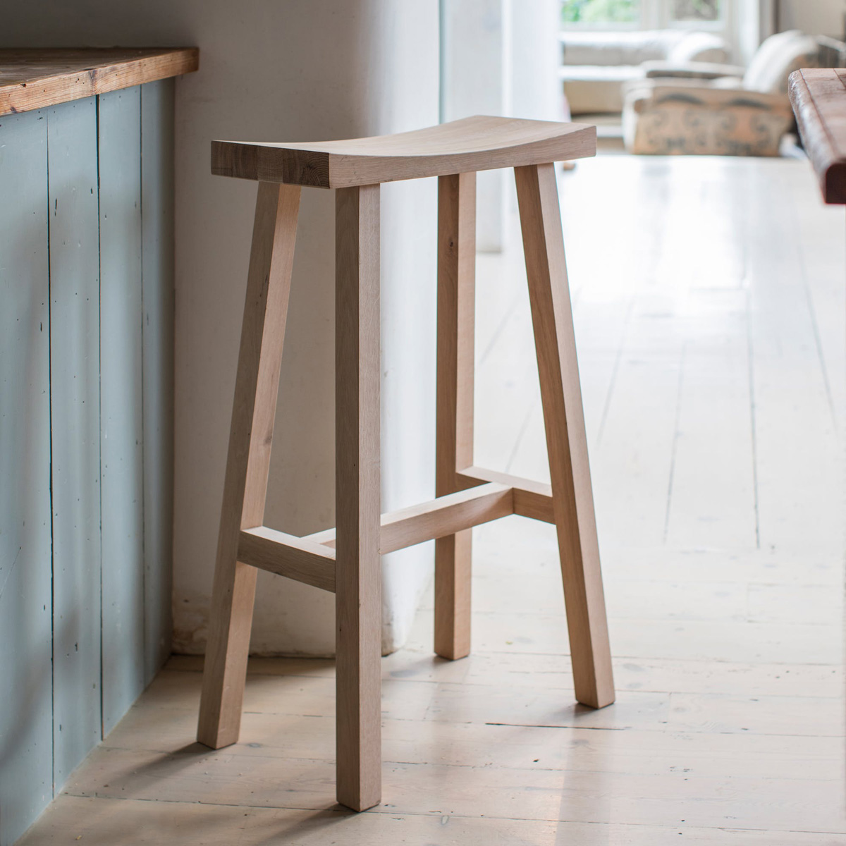 Picture of: Contemporary Raw Oak Wooden Bar Stool Fizzy Fox Ripley