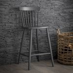 SPBS02_square_1 Grey Spindle Bar Wooden Bar Stool