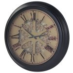 EGN104 Antique Style Gears Mechanisms Wall Clock