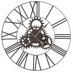 ESY004 Antique Style Skeleton Cogs Wall Clock