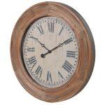 HMV002 Antique Style Wooden Framed Wall Clock