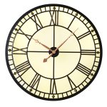 HMV005 Extra Large Black Copper Wall Clock