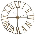 PCE213 Extra Large Distressed Gold Clock