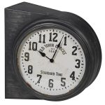 STN1349 Vintage Grey Double Sided Wall Clock