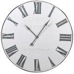 STN1375 Extra Large White Paris Wall Clock