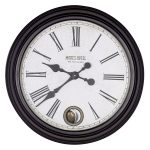 STN321 Antique Style Brown Pendulum Wall Clock