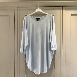 Pale Blue Diamanté Sleeve Top