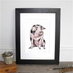 GP58 Country Miss Pig Fine Art Print