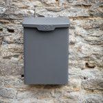 PBCO08 Charcoal Grey Steel Wall Post Box 1