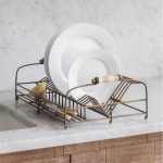 DSAB01 Vintage Style Antique Brass Dish Rack