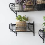 HBBL01 Slim Black Wire Basket Shelf