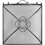 11425 Antiqued Pewter Grey Curved Fire Screen
