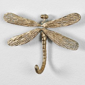 3783 Gold Dragonfly Wall Hook