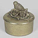 5642 Antique Gold Bird Rose Storage Box