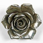 5758 Distressed Silver Rose Wall Decoration