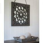 17AW105 Decorative Grey Heart Wall Mirror