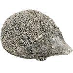 16949 Antique Silver Grey Hedgehog Ornament