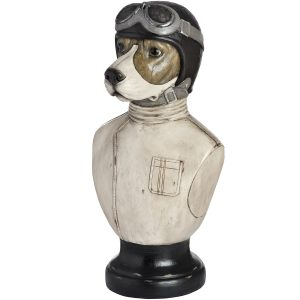 17939 Racing Beagle Dog Bust