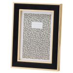 20849 Black Velvet Gold Metal 5 x 7 Frame