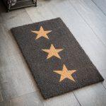 DMCO10 Charcoal Grey Stars Coir Doormat 1