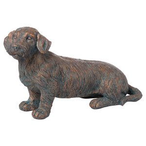 21294 Copper Wire Haired Dachshund Ornament