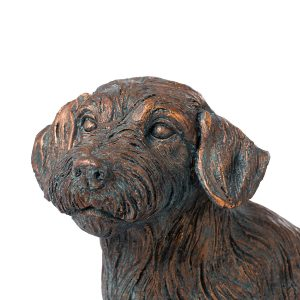 21294-a Copper Wire Haired Dachshund Ornament
